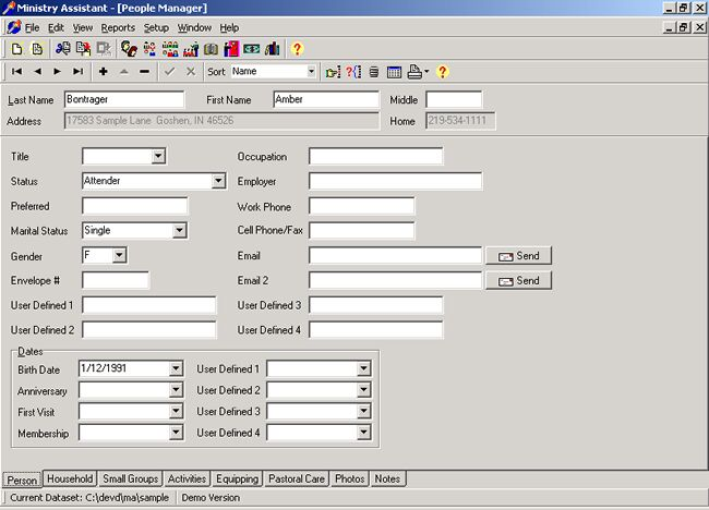 Click to view Ministry Assistant 1.42 screenshot